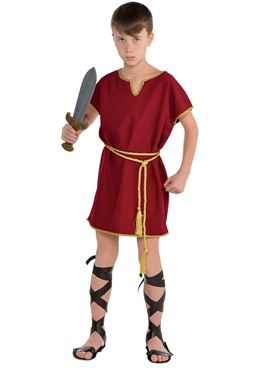 Child Burgundy Roman Tunic