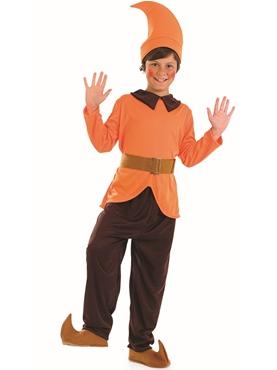 Child Orange Dwarf Costume