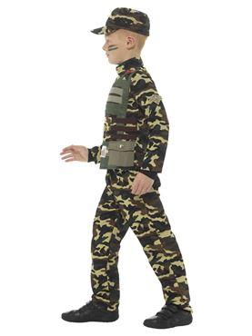 Child Camouflage Military Boy Costume - Side View