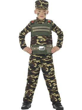 Child Camouflage Military Boy Costume