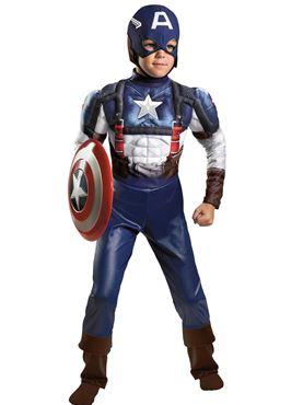 Child Captain America Avengers Costume