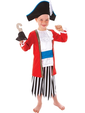 Childrens Captain Pirate Costume