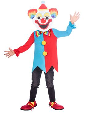 Child Carnival Clown Big Head Costume