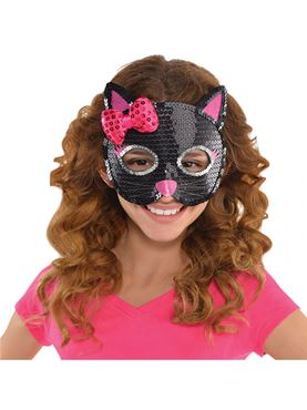 Child Cat Sequin Mask