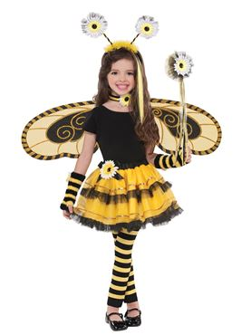 Child Bumble Bee Fairy Wings - Back View