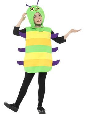 Child Caterpillar Costume - Back View