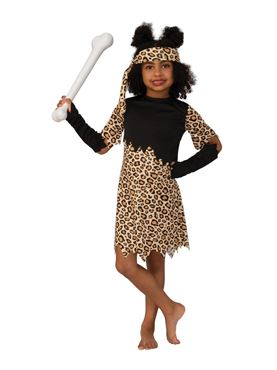 Child Cave Girl Costume Couples Costume