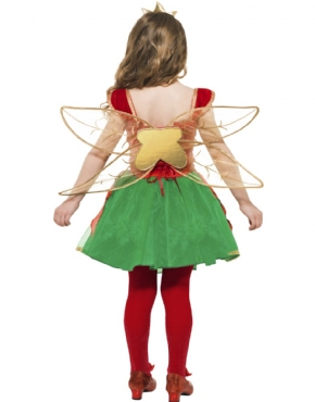 Child Girls Christmas Elf Fairy - Side View