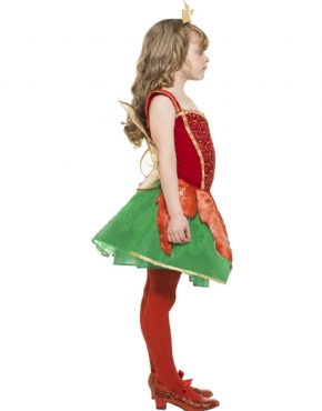 Child Girls Christmas Elf Fairy - Back View