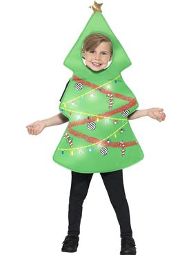 Child Light Up Christmas Tree Costume
