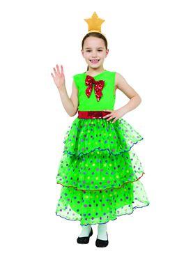 Child Christmas Tree Girl Costume