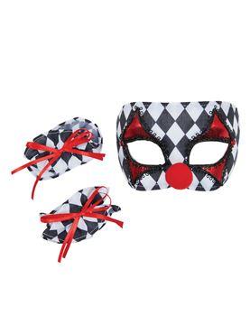 Child Clown Mask and Cuffs Set