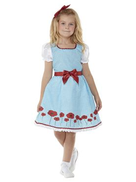 Child Country Girl Costume - Back View
