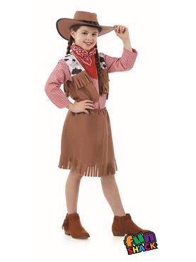 Child Cowgirl Costume - Back View
