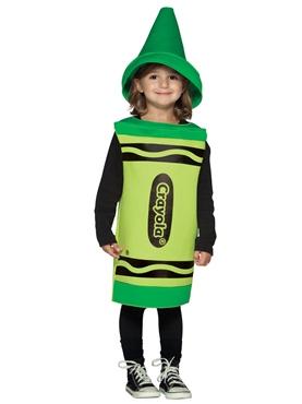 Child Crayola Crayon Green Costume 3-4 YRS