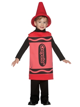 Child Crayola Crayon Red Costume 3-4 YRS