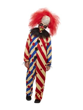 Child Creepy Clown Costume