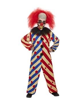 Child Creepy Clown Costume - Back View