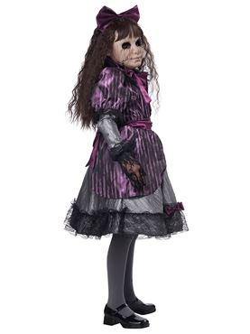 Child Creepy Doll Costume - Side View