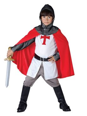 Child Crusader Boy Costume