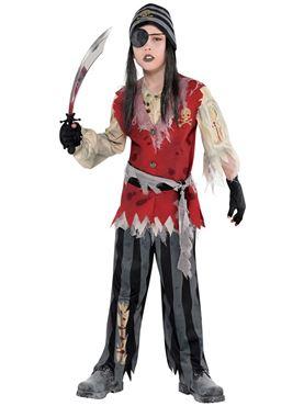 Child Cutthroat Pirate Corpse Costume