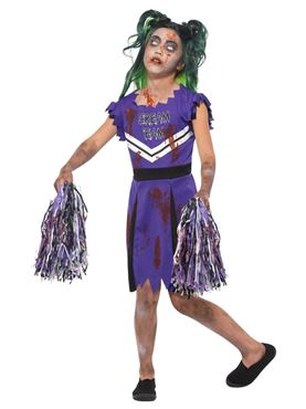 Child Dark Cheerleader Costume - Side View