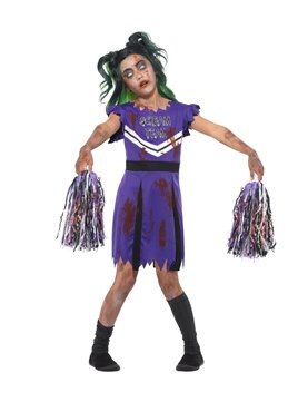 Child Dark Cheerleader Costume