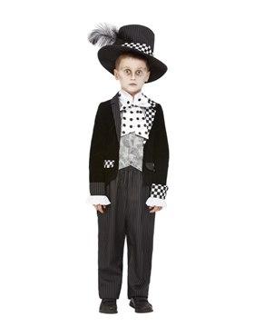 Child Dark Mad Hatter Costume - Back View