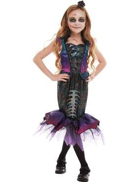 Child Dark Mermaid Costume - Back View