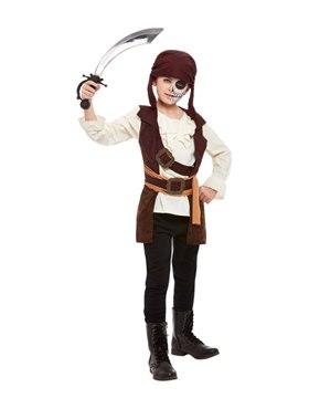 Child Dark Spirit Pirate Costume - Back View