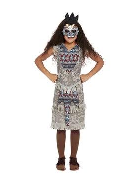 Child Dark Spirit Warrior Costume - Back View