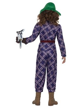 Child David Walliams Deluxe Awful Auntie Costume - Side View
