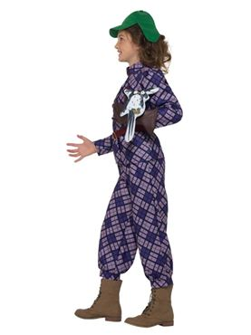 Child David Walliams Deluxe Awful Auntie Costume - Back View