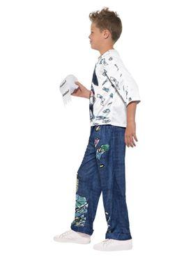 Child David Walliams Deluxe Billionaire Boy Costume - Back View