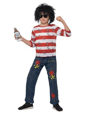 Child David Walliams Deluxe Ratburger Costume - Side View