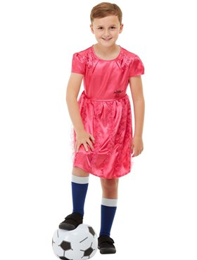 Child David Walliams Deluxe The Boy in the Dress Costume - Back View