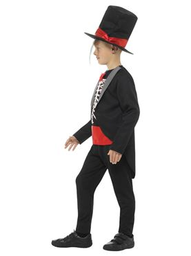Child Day of the Dead Boy Costume - Back View