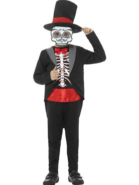 Child Day of the Dead Boy Costume Couples Costume