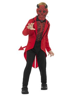Child Day of the Dead Devil Boy Costume - Side View