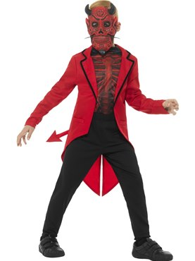 Child Day of the Dead Devil Boy Costume