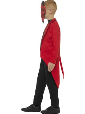 Child Day of the Dead Devil Boy Costume - Back View