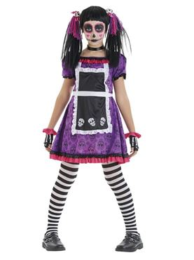 Child Day of the Dead Doll Costume