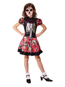 Child Day of the Dead Girl Costume