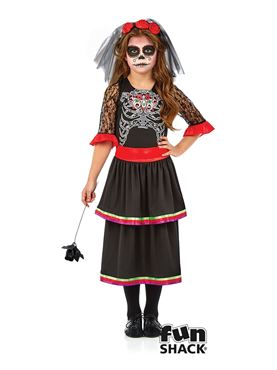 Child Day of the Dead Girl Costume Couples Costume