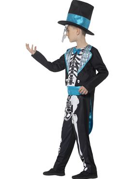 Child Day of the Dead Groom Costume - Back View