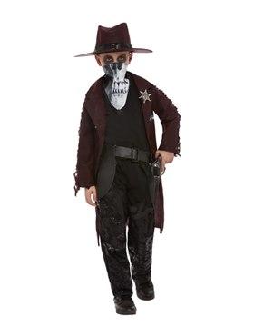 Child Deluxe Dark Spirit Western Cowboy Costume Couples Costume