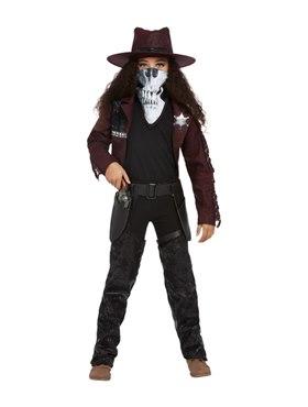 Child Deluxe Dark Spirit Western Cowgirl Costume