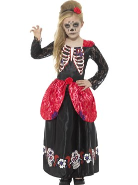 Child Deluxe Day of the Dead Girl Costume Couples Costume