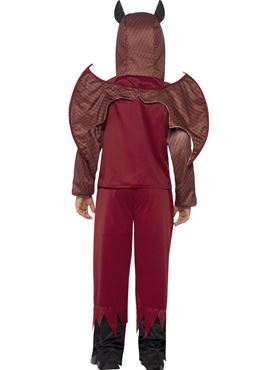 Child Deluxe Devil Costume - Back View