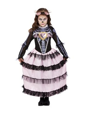 Child Deluxe DOTD Princess Costume - Back View